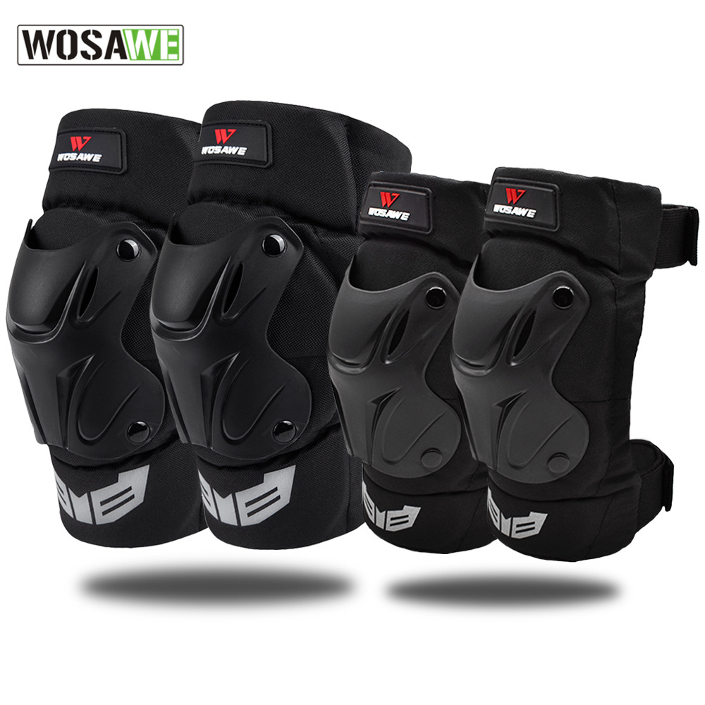 Elbow & Knee Pads Motorcycle Elbow Support Cycling Protection Gears Mtb Joelheira Bicycle Kneepads Bike Downhill Knee Protector
