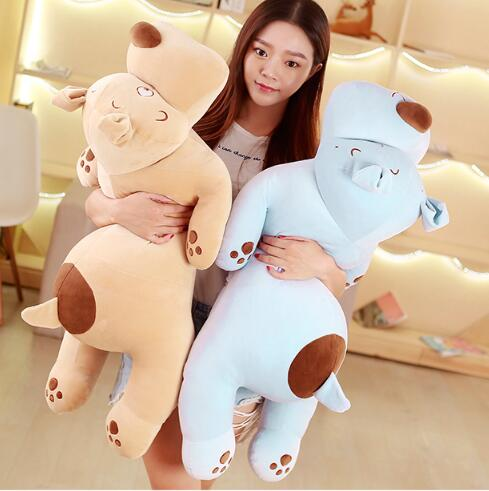 90cm Soft feather cotton dog doll dog plush toy sleeping pillow Stuffed Toy Cute Cartoon Animal Doll Toys Gifts For Birthday stuffed animal jungle lion 80cm plush toy soft doll toy w56