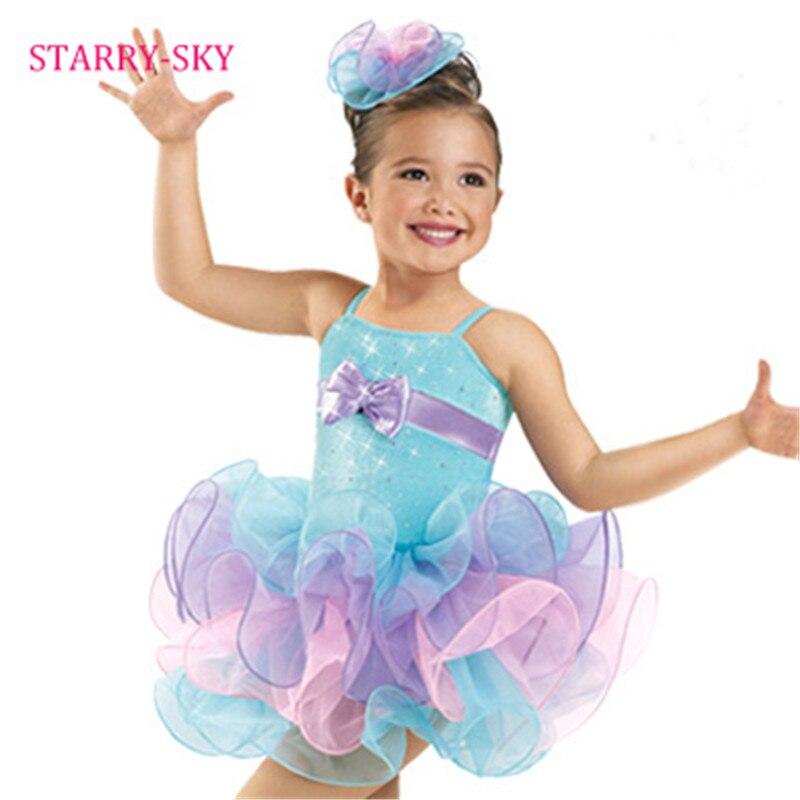 Filles Ballet robe 2017 enfants danse Costumes mignon arc enfants gymnastique ballerine Tutu justaucorps fille Dancewear robes de Ballet