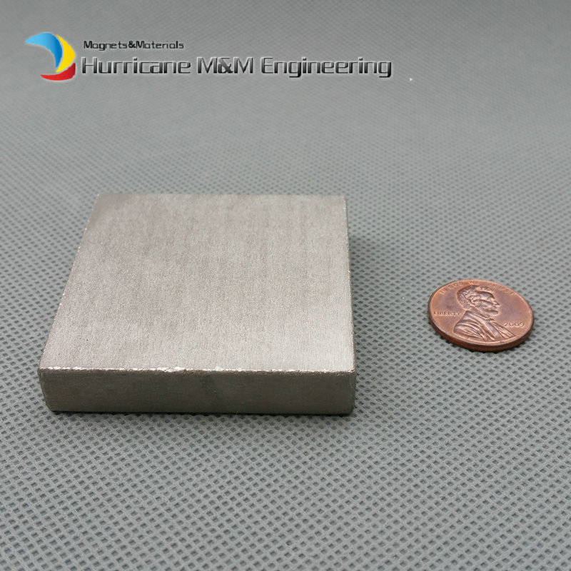 1 pcs SmCo Magnet Block 50x50x10 mm grade YXG24H, 350degree C High Temperature Permanent Magnets Rare Earth Magnets food grade high temperature resisting 140 degree beer magnetic drive pump