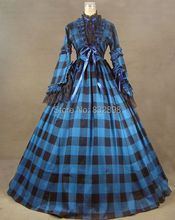 New Civil War Blend Tartan Ball Gown Dress