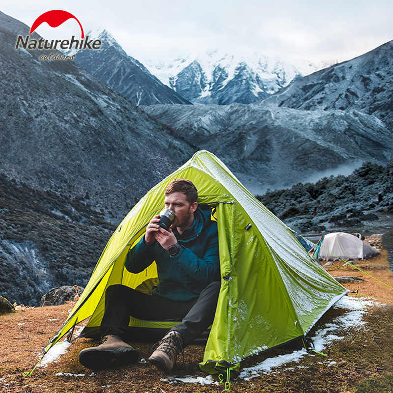Naturehike 19 New 1 man Tent Outdoor Ultralight Camp single Tent  big space 20D Nylon Winter summer light Camping Tent with mat