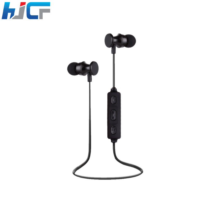 Original HJCF ZY08 Wireless Sport Earphone Metal Bluetooth Earphones Magnetic Design Stereo Bass With Mic For Smartphone PC