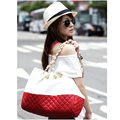 Fashion Designer Women Ling Plaid Shoulder Bags large size Women Leather Handbags Messenger crossbody Bags with chain OR840115