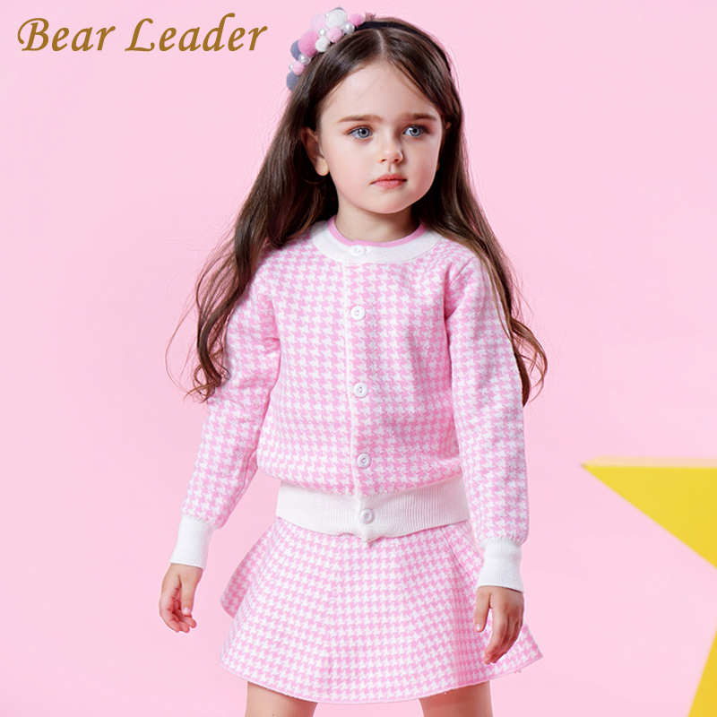 Bear Leader Girls Clothing Sets 2018 Fashion Girls Clothes Long Sleeve Pink Plaid Design+Plaid Skirts 2Pcs Kids Clothing Sets elite fitness massager roller stick trigger point muscle roller exercise therapy releasing tight body massage tool gym rolling
