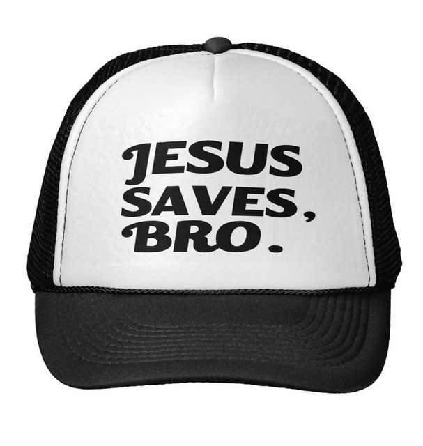 e158c8a160632 Jesus Saves Bro Letters Print Baseball Cap Trucker Hat For Women Men Unisex  Mesh Adjustable Size Drop Ship M 158-in Baseball Caps from Apparel  Accessories ...