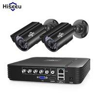 Hiseeu HD 4CH 1080N 5in1 AHD DVR Kit CCTV System 2pcs 720P/1080P AHD waterproof/bullet Camera 2MP P2P Security Surveillance Set