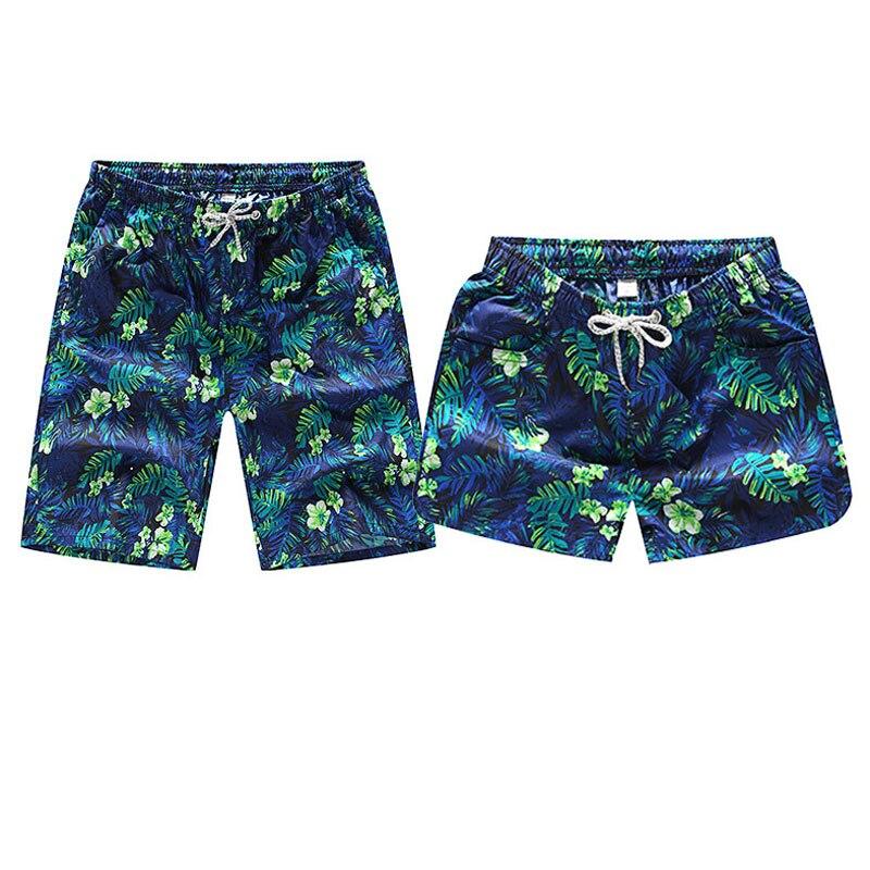 Summer Fashion Men Women Beach   Shorts   3D Leaves Print Couple   Board     Shorts   Casual Quick Dry Pocket Beach Wear Seaside Hawaiian