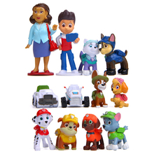 2019 New 12pcs/lot Paw Patrol Model Anime figure Action Figures DIY Creative Doll Puppy Toy Patroling Canine Toys for Children