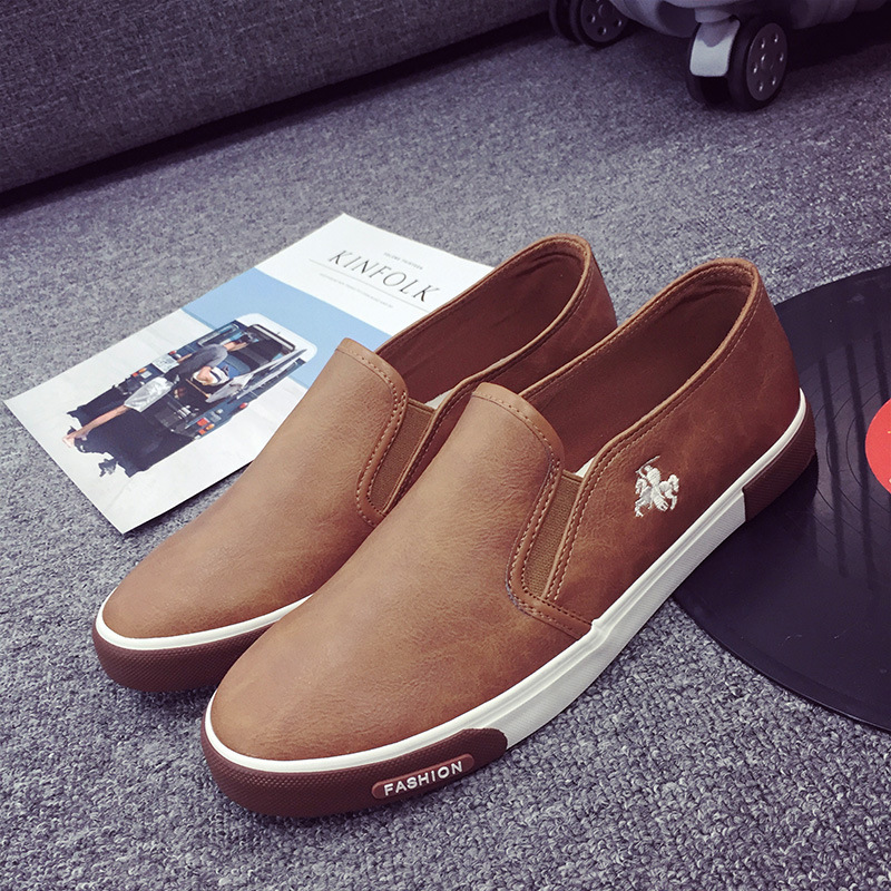 New Fashion Men's Outdoor Loafers Walking Sneaker Men's Casual Leather Flat Shoe