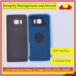 Image 5 - 50 unids/lote para Samsung Galaxy S7 Edge G935 G9350 G935F SM G935F carcasa batería puerta para parabrisas trasero funda carcasa chasis