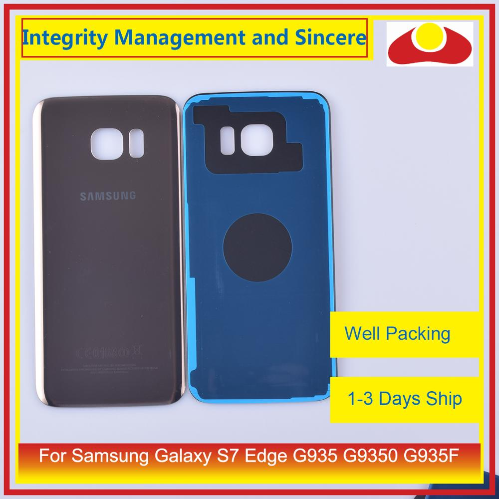 Image 5 - 50Pcs/lot For Samsung Galaxy S7 Edge G935 G9350 G935F SM G935F Housing Battery Door Rear Back Glass Cover Case Chassis Shell-in Mobile Phone Housings & Frames from Cellphones & Telecommunications