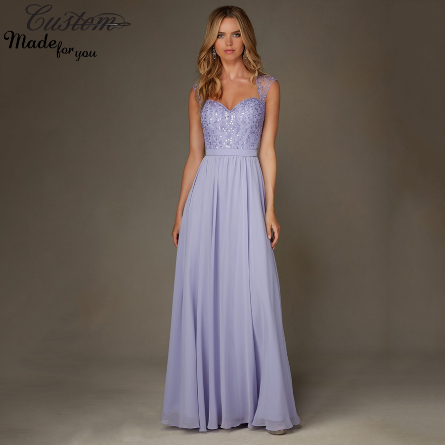 Luxury wedding guest prom party gowns sparkly light purple for Sparkly wedding dresses with sleeves