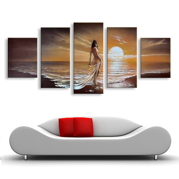wall decor oil painting modern oil painting on canvas abstract  Beach nude woman painting art Hotel decoration paintings  FI-024