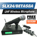 Free Shipping!! Professional UHF Wireless Microphone SLX24/BETA58 SLX Cordless 58A Handheld Karaoke System Band L4 638-662Mhz