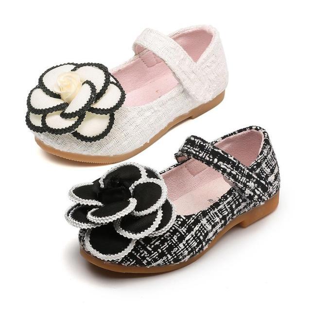 391d91044 New Popular Toddler Kids Girls Baby Camellia Flower Fashion Princess Single  Shoes calcados infantil