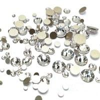 5000PCS Mix Sizes Crystal Clear Non Hotfix Flatback Nail Rhinestones Supplies Nails Accessories Nail Art Decoration