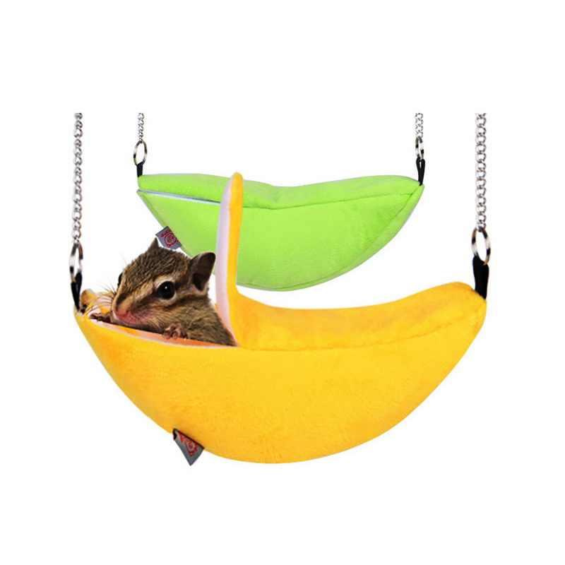Мышь для мыши и хомяка банановые модели подвесная кровать для хомяка для хорька зайца животные кровать для маленьких домашних животных хлопковое гнездо для сна товары для дома