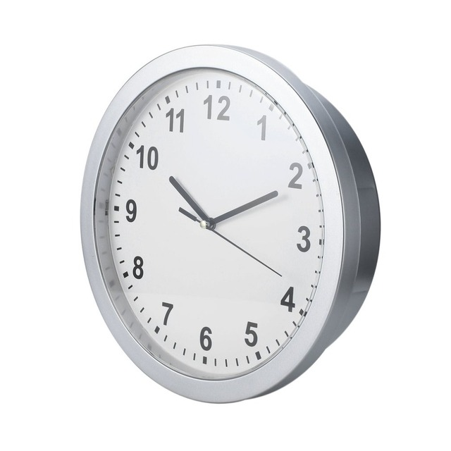 coffre fort horloge argent