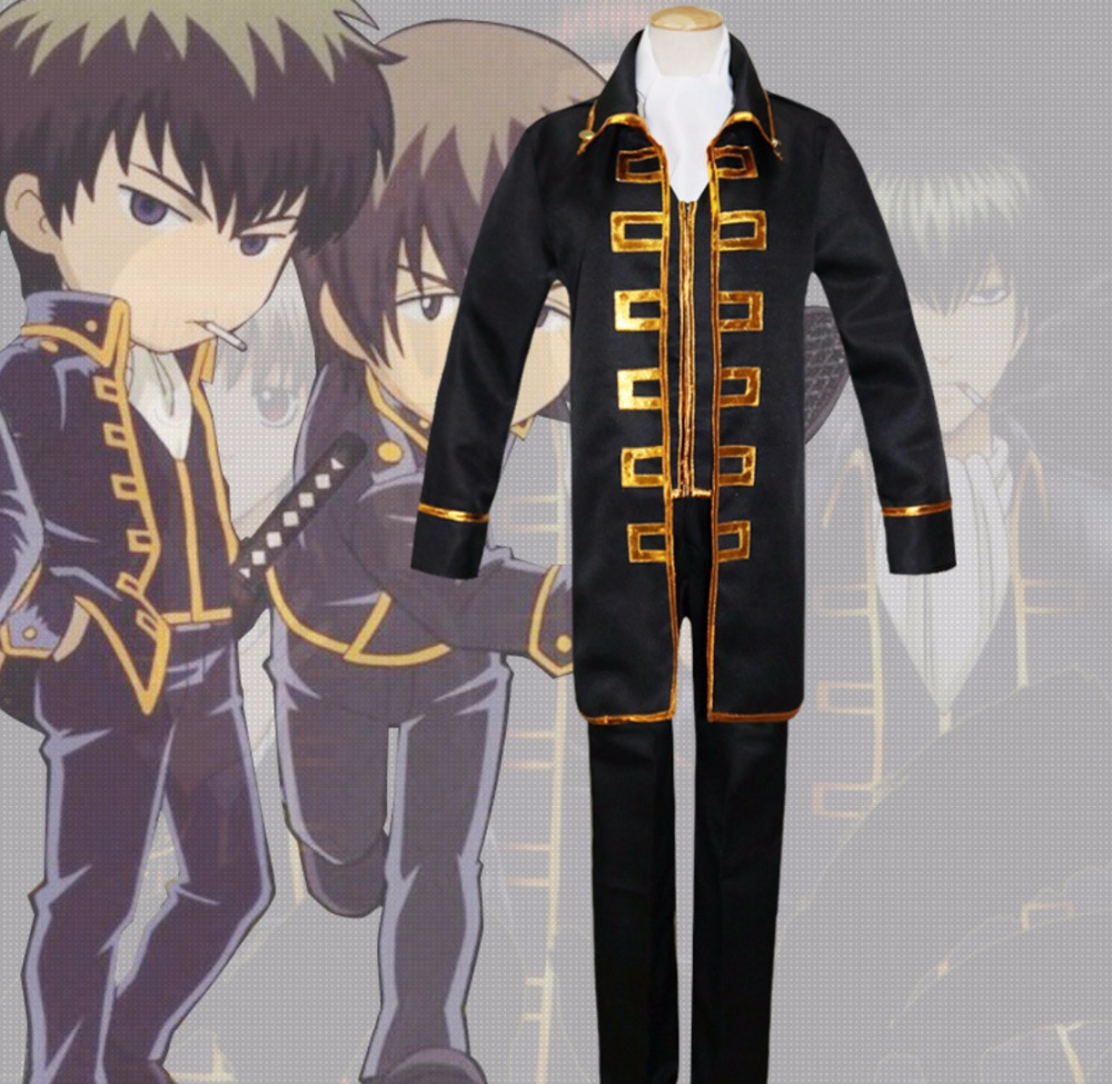 Japanese Anime Gintama Cosplay Costume Hijikata Toushirou Cosplay Okita Sougo Cosplay Uniform Halloween Carnival Cosplay Costume