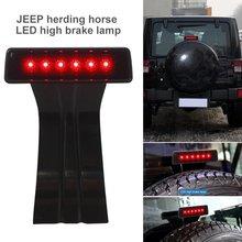 цена на Third Brake Light Assembly Brake Tail Light Lamp High Mount Stop Light For 2007-2018 LED Jeep Wrangler JK