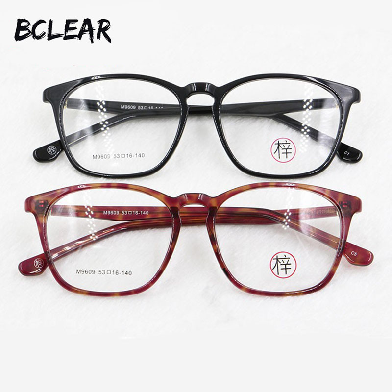 49d703be1f BCLEAR Fashion Acetate Eyeglasses Retro Men Women Designer Business Optical  Frame High Quality Limited Edition M9609