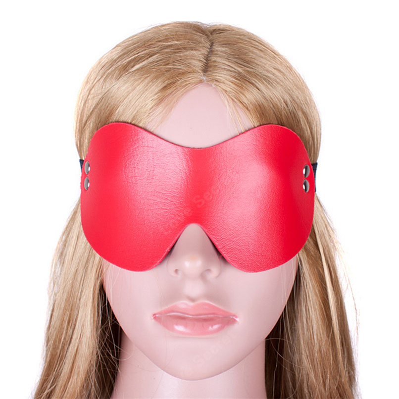 Buy Blindfold Bondage Restraints S&M PU Leather Sexy Erotic Toys Cosplay Eye Mask Woman Fetish Slave Sex Game Adult Sex Product