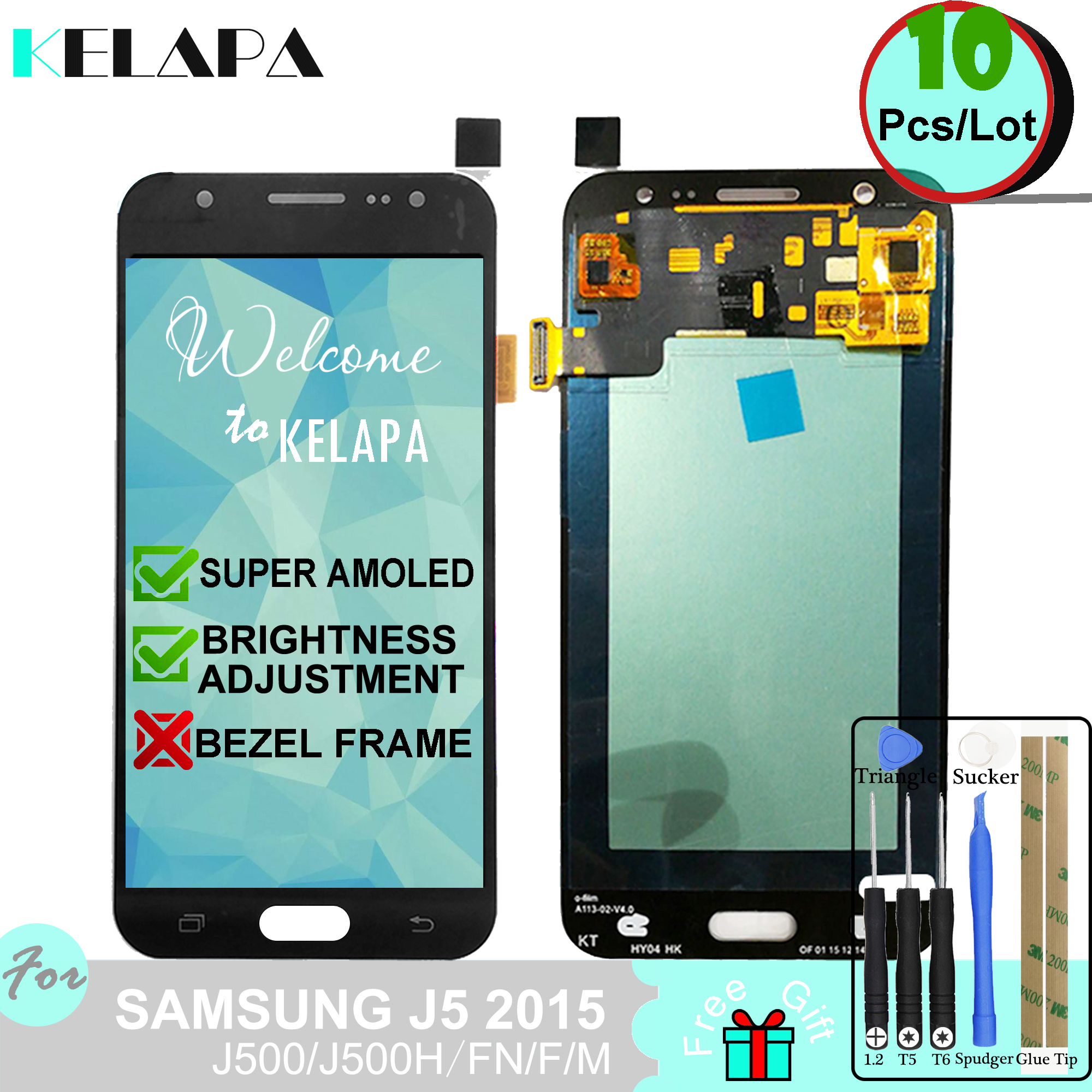 10 x Super AMOLED LCD For Samsung Galaxy J5 2015 J500 J500H J500FN J500F J500M /DS Touch Screen Digitizer Assembly10 x Super AMOLED LCD For Samsung Galaxy J5 2015 J500 J500H J500FN J500F J500M /DS Touch Screen Digitizer Assembly