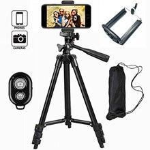 35-106 см легкая камера Трипод для мобильного телефона Подставка держатель Регулируемая DSLR камера штатив для iPhone X с пультом дистанционного управления #25
