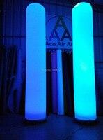 תאורה צבעונית נייד ושימוש חוזר 2.4 m H דקורטיבי מתנפח אוויר עמודות חתונה עמודה רומית
