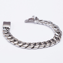 Heavy Curb Link Chain Steel Bracelet