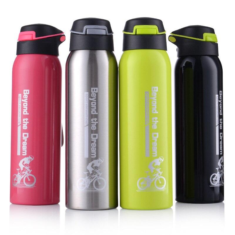 500 ml Sport thermos wasser flasche Thermo Becher Edelstahl Vakuum Glaskolben becher mit stroh Isolierung Tasse Thermoskannen tthermal bottl