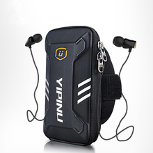 Waterproof Unisex Reflective Running Bag Phone Case Cover Sport Armband Wrist Bag Cycling Hiking Fitness Wristlet Pouch