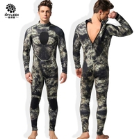3mm male neoprene super elastic neoprene camouflage Spearfishing men diving suits swimsuit male jumpbody Rash Guards wetsuit