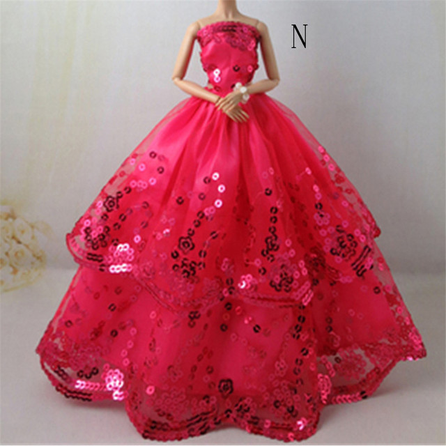 a323bbf8204b2 US $0.38 16% OFF|Aliexpress.com : Buy One Piece Wedding Dress Party Gown  Princess Cute Outfit Clothes For Girl Doll Girls' Gift Baby Toys Newest  from ...