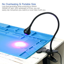 Multifunctional LED Light USB Ultraviolet Curing Lamp LED Blacklight Gooseneck Light with Clamp UV Light Fixture Black Lamp(China)