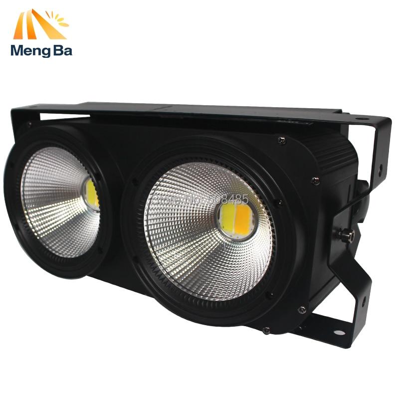 12pcs/lot 2*100w LED COB Blinder Light 2 Eyes Stage Led Audience Light for Stage 2units 100w 2 led cob blinder audience light