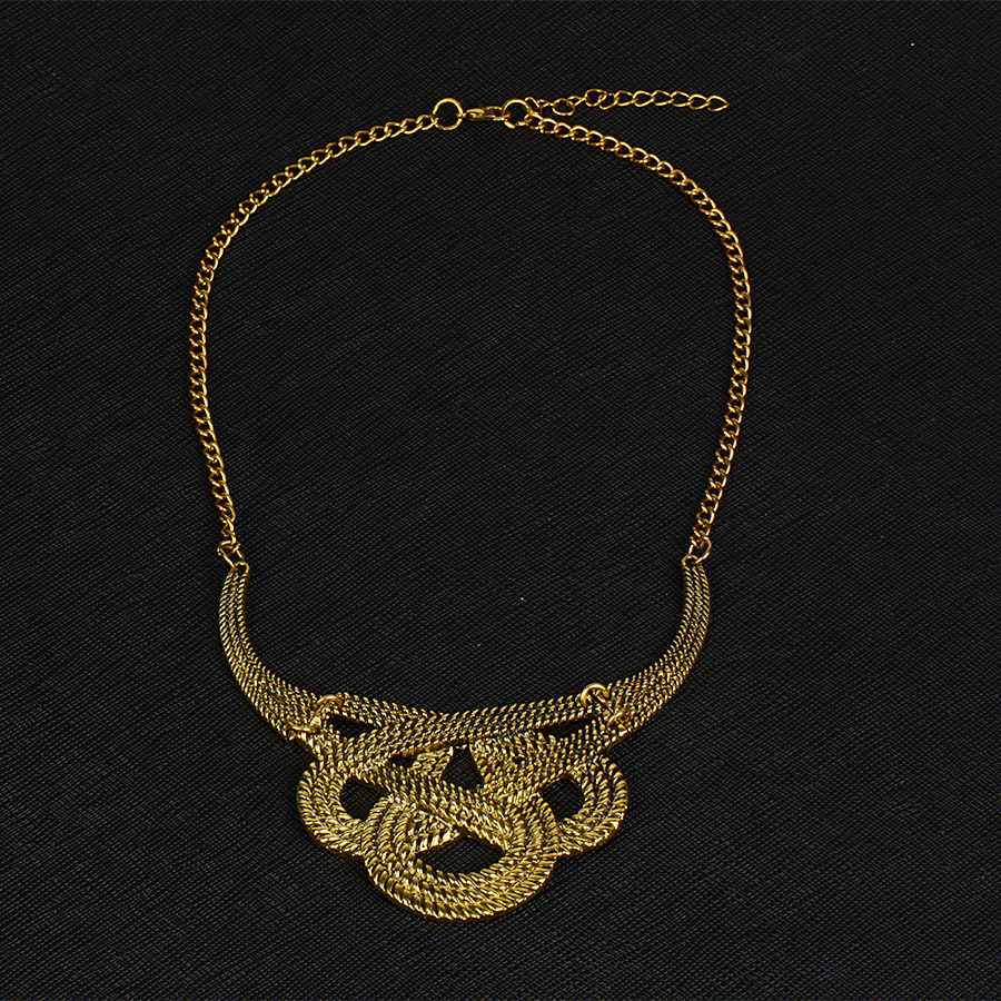 RAVIMOUR Chokers Vintage Vòng Cổ đối với Phụ Nữ Geometric Collier Dây Chuyền & Mặt Dây Punk Kim Loại Vàng Bạc Màu Boho Jewelry