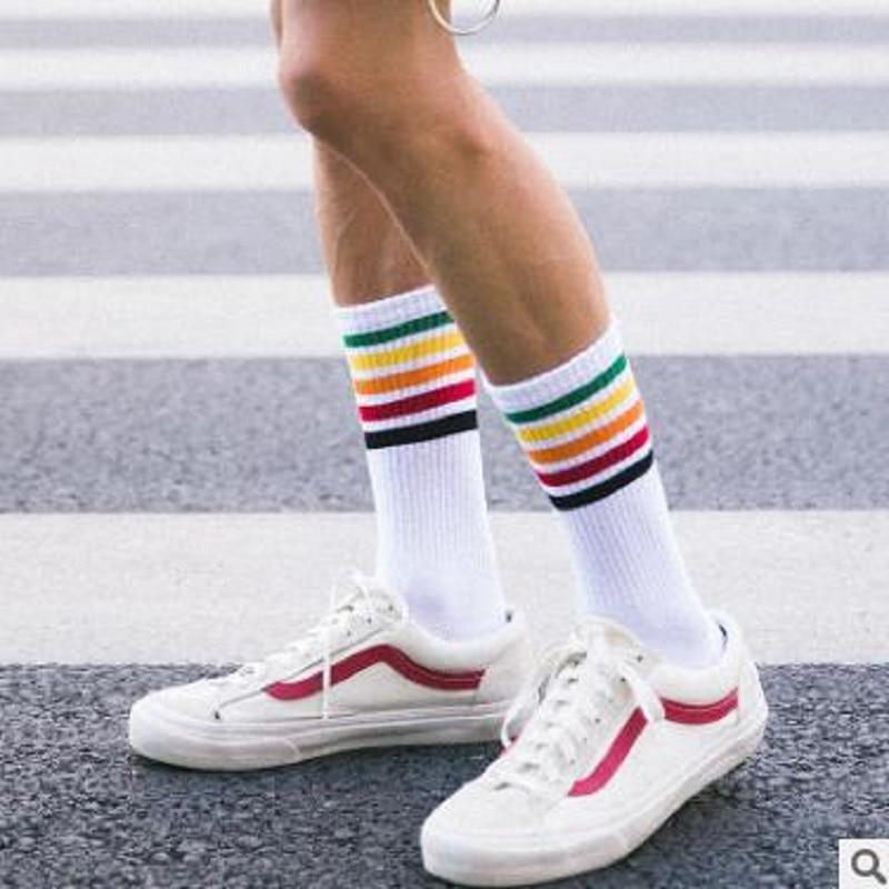 The Latest Fashion Rainbow Stripes Men's Socks