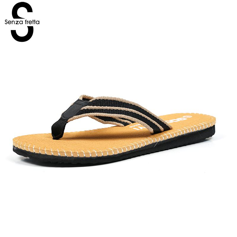 Senza Fretta Non-slip Flip Flops Men Slippers Flip Flops Men Sandals  Casual Summer  Flip Flops Breathable  Beach Shoes Sandals фоторамка senza 20х25 см хром 956444