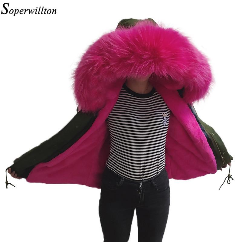 100% Real Reccoon Bontkraag Parka Femeninas Winterjas Vrouwen 2018 Nieuwe Warme Jas Vrouwelijke Hooded Grote Bont Plus Size Groene S11