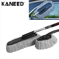2 In 1 Large Microfiber Telescoping Car Wash Body Duster Brush Dirt Dust Mop Cleaning Tool