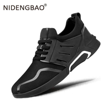 цена на Hot Sale Summer Running Shoes Men Lace-up Breathable Sneakers Lightweight Sports Shoes Male Outdoor Walking Jogging Sneakers