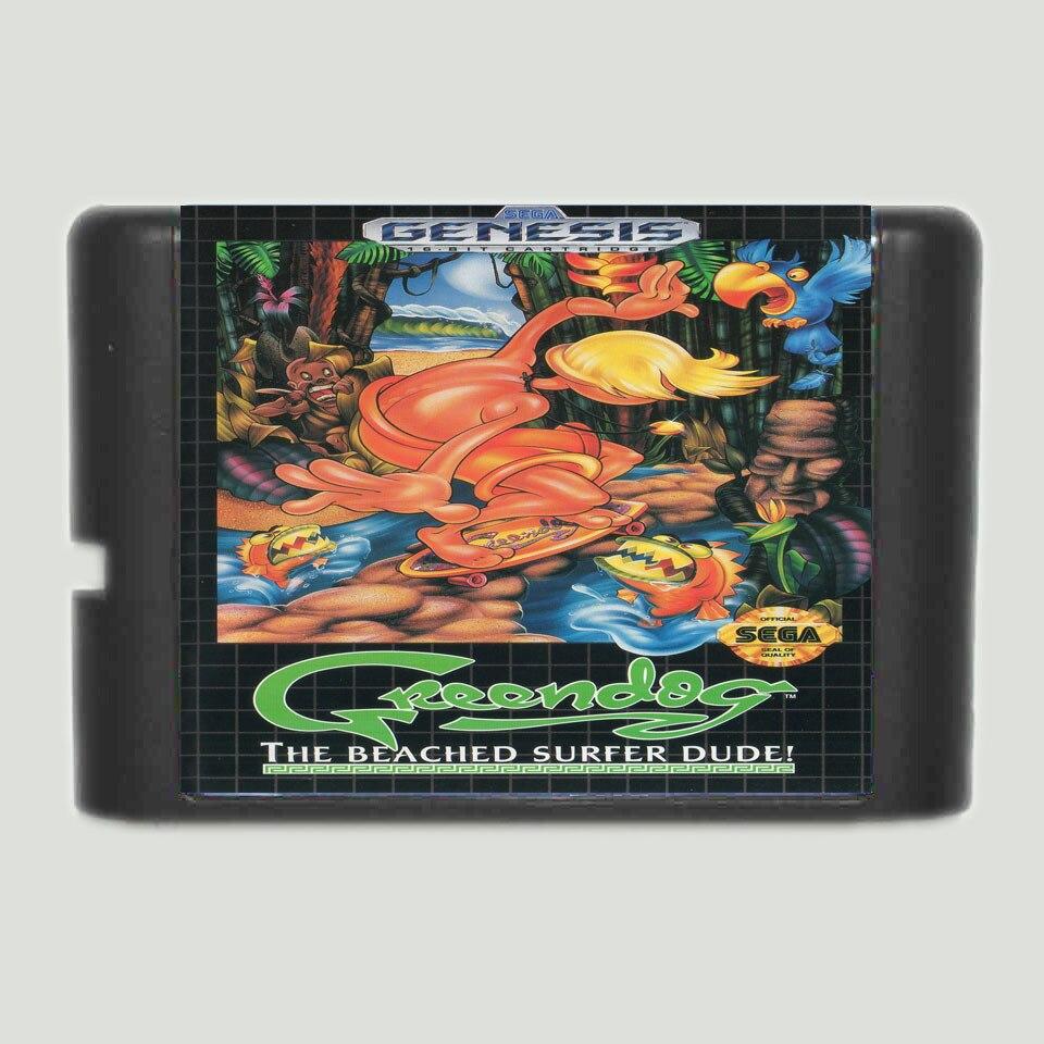 Green Dog 16 bit MD Game Card For Sega Mega Drive For Genesis