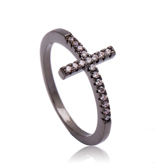 Cross Silver Plated rings Fashion Ring
