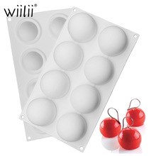 White Round Ball Shape Silicone Non-Stick Truffles Chocolate Mold Cake Decorating Tool