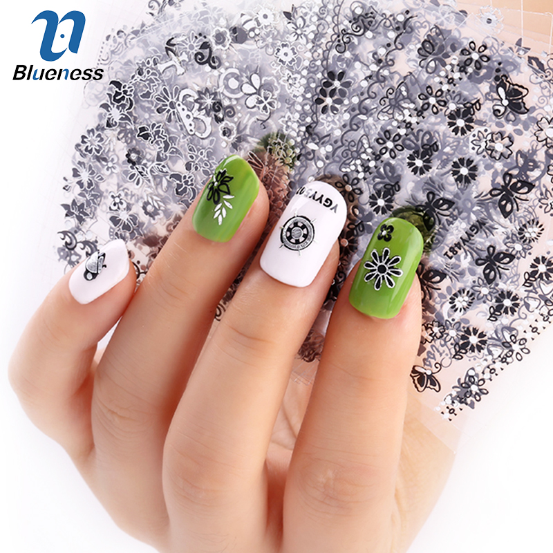 24 Pcs/Lot Glitter Butterfly Halloween Dragonfly Shoes Beauty Design 3D Nail Stikcers Manicure Decorations For Charms Nail Art