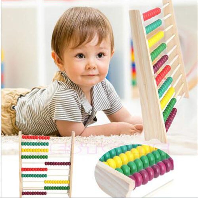 New Arrival Colorful 10 Row Bead Wooden Abacus Child Educationnal font b Calculate b font Math