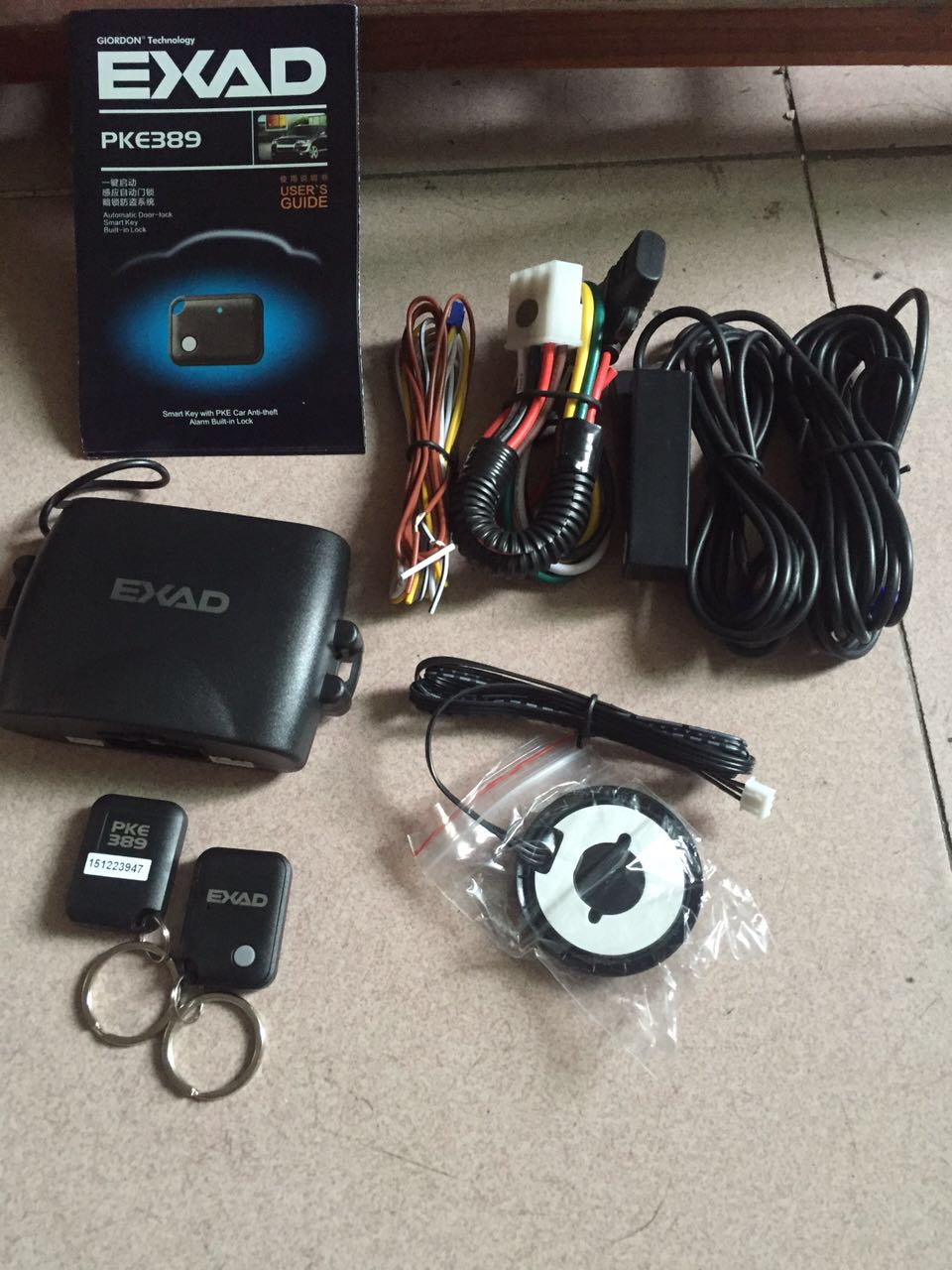 PKE Car Alarm System Auto Keyless Entry Remote Starline Engine 2Remote Controllers Push Central Lock For Mazda Toyota Start Stop