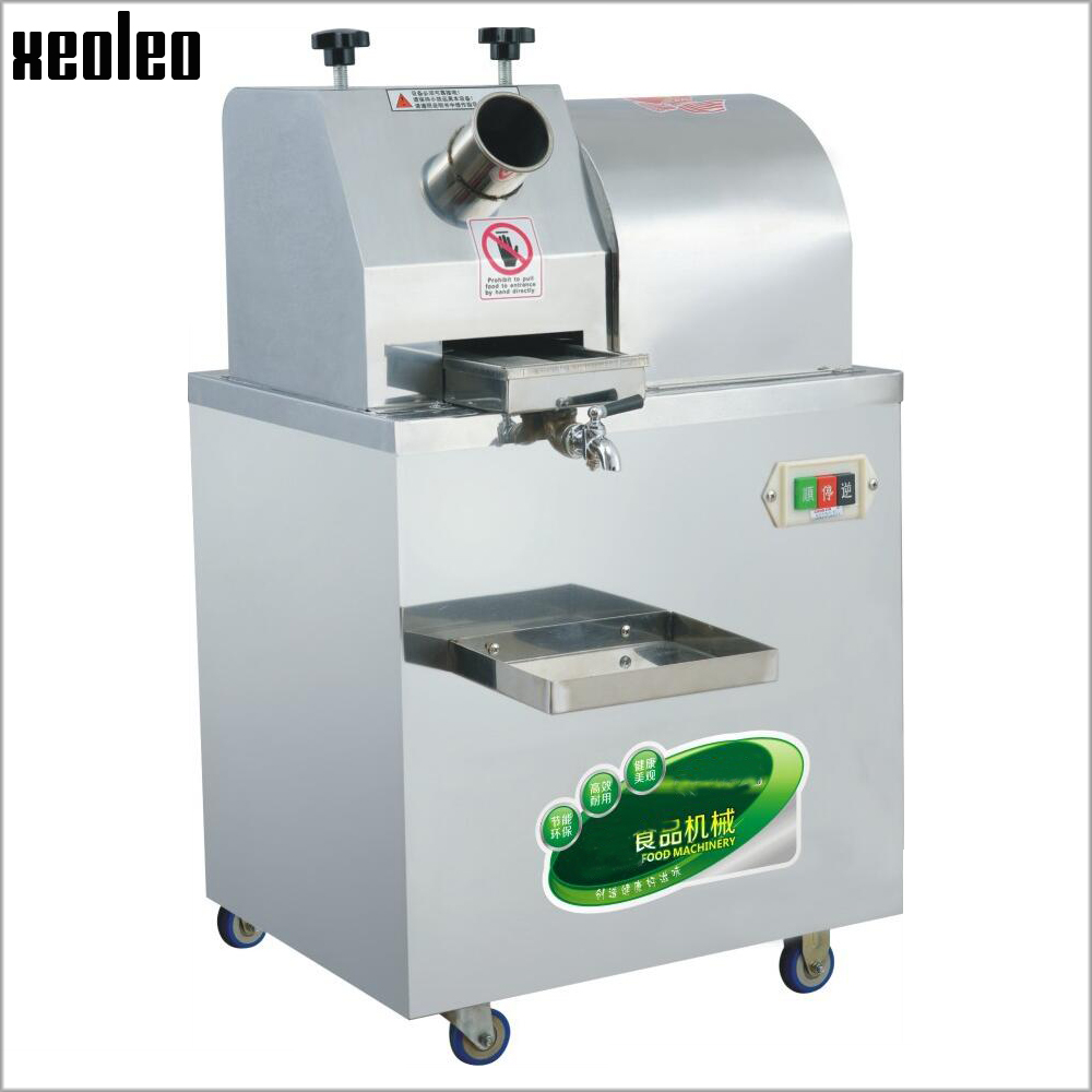 XEOLEO şeker kamışı sıkacağı ticari şeker kamışı pres makinesi şeker kamışı suyu sıkma makinesi 300 kg/saat paslanmaz çelik meyve suyu makinesi 220V